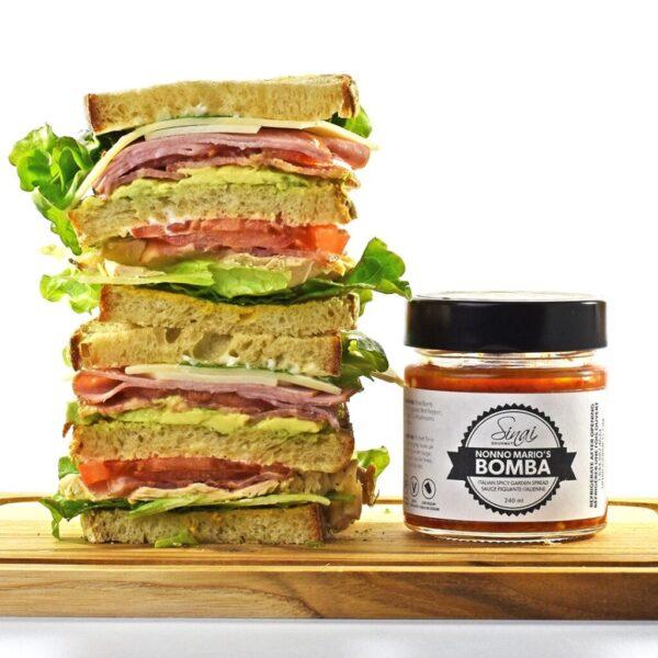 Nonno Mario's Bomba club sandwich