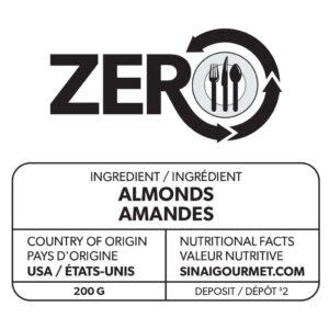 Label ZERO Amandes