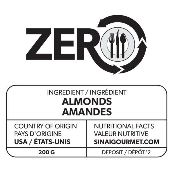 ZERO Almonds Label
