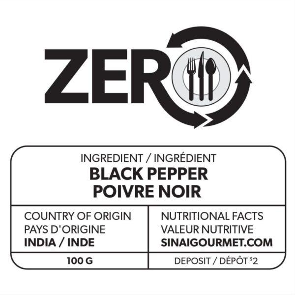 ZERO Black Peppercorn Label