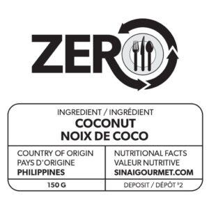 ZERO étiquette de noix de coco