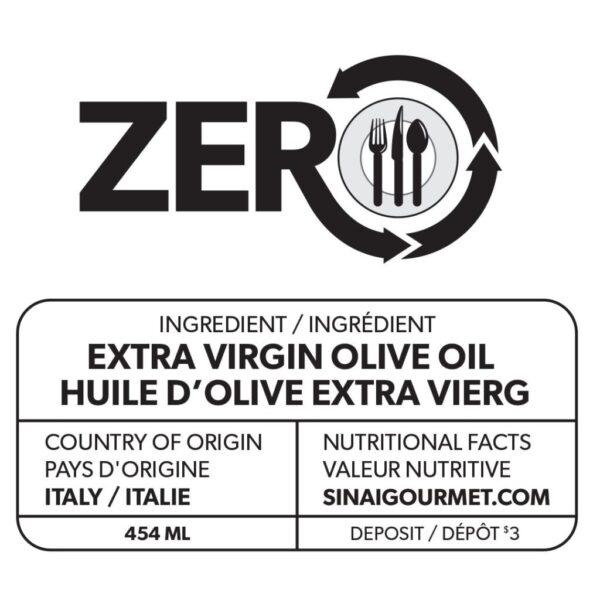 ZERO Extra Virgin Olive Oil Label