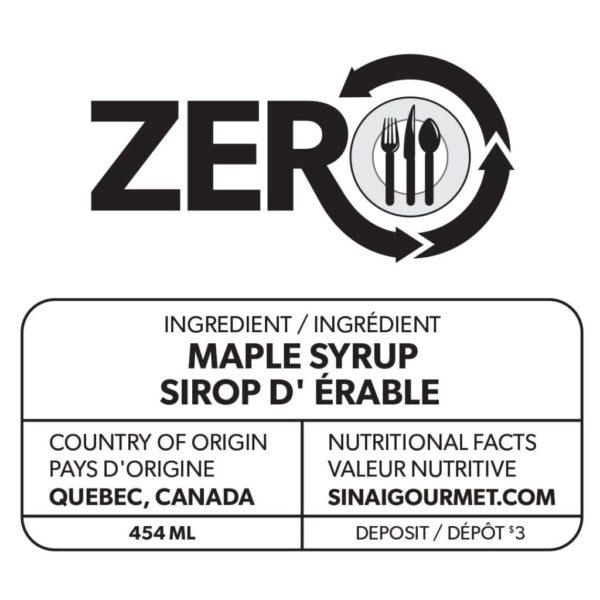 ZERO Maple Syrup Label