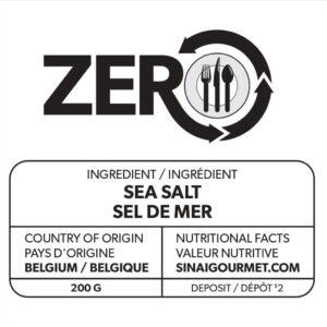 zero sea salt label